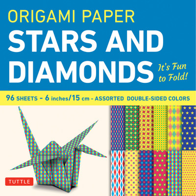 Origami Paper 96 sheets - Stars and Diamonds 6 inch (15 cm)