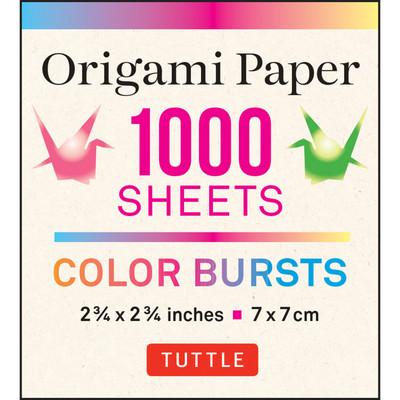 Origami Paper Color Burst 1,000 sheets 2 3/4 in (7 cm)
