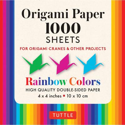 "Origami Paper Rainbow Colors 1,000 sheets 4"" (10 cm)"