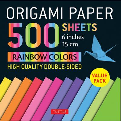 "Origami Paper 500 sheets Rainbow Colors 6"" (15 cm)"
