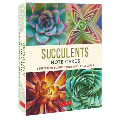 Succulents, 16 Note Cards