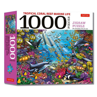 Tropical Coral Reef Marine Life - 1000 Piece Jigsaw Puzzle