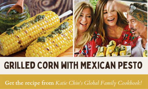 Get the Recipe: Grilled Corn with Mexican Pesto