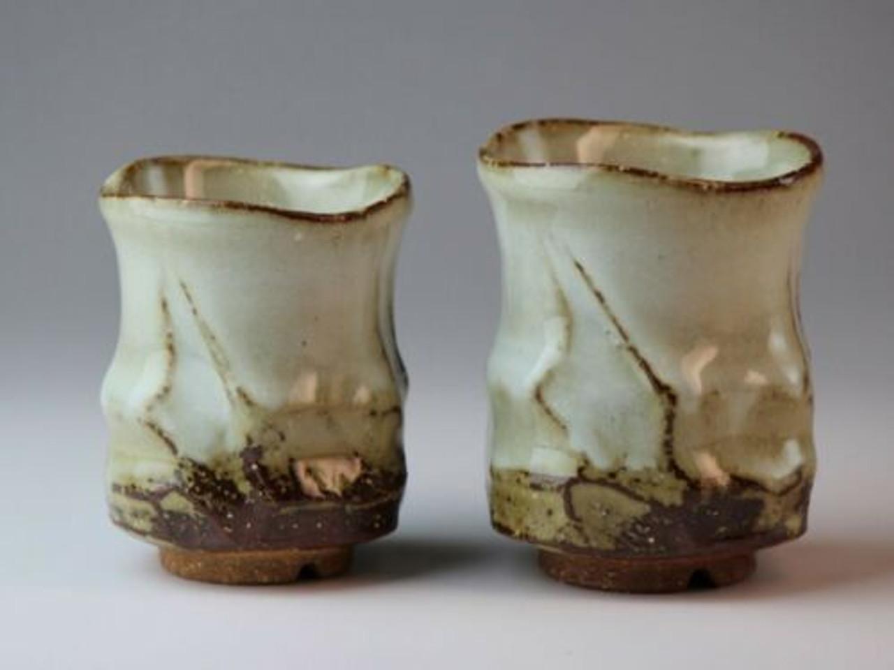 Yunomi Hagi Yaki Ware Japanese Pottery Tea Cup Sansui