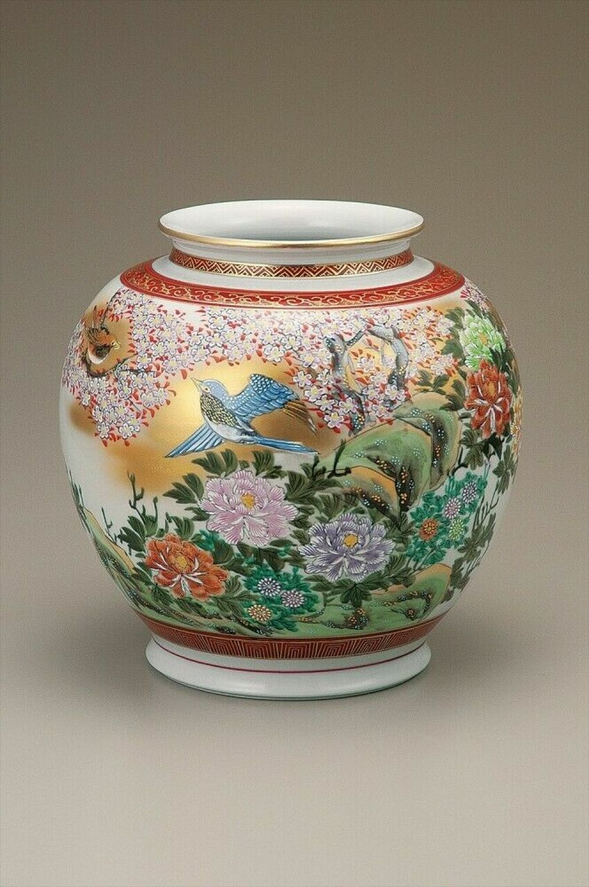 Kutani Flower Vase