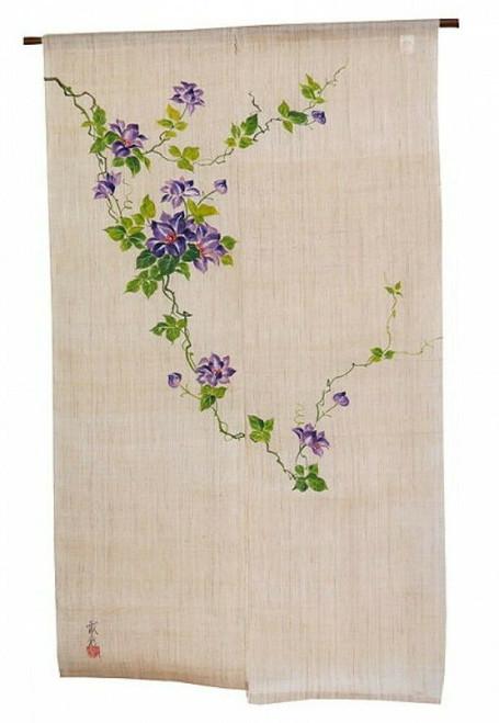 Kyoto Noren Japanese Door Curtain Handpaint Tessen Made in Japan
