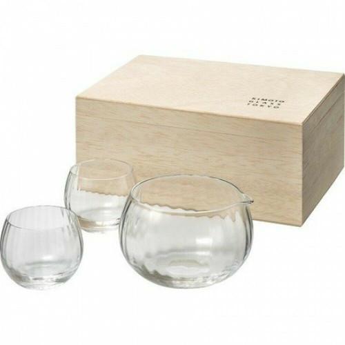 Sake Glass bottle cup set Nihon-shu Sakazuki Guinomi Tokkuri Japan set of 3