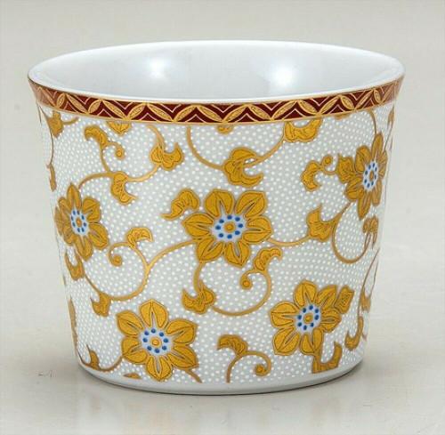 Soba Choko Kutani Porcelain White dot Shirochibu Handcraft  Tea Sake Water  Cup