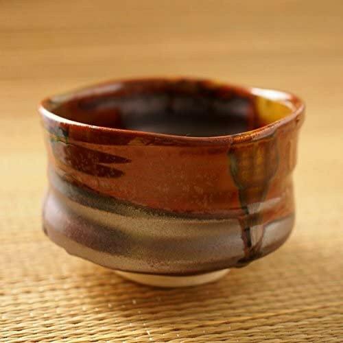 Matcha Chawan Japanese green Tea Bowl Mino yaki ware Asayake Sunrise Motif Japan