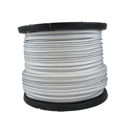 1/2″ Bungee Shock Cord Polyester White With Black Tracer