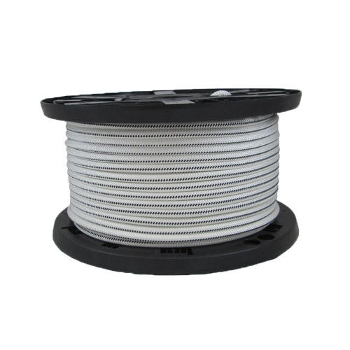 "3/8"" Bungee Shock Cord Polyester White With Black Tracer"
