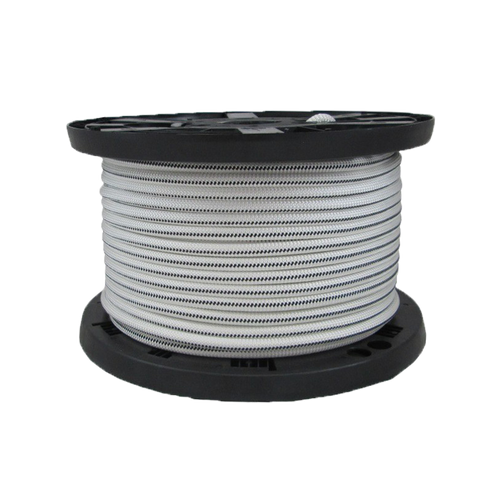 "5/16"" Bungee Shock Cord Polyester White With Black Tracer"