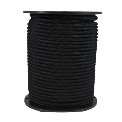 """1/4"""" Bungee Shock Cord Polyester Black"""