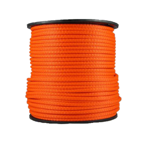 3/8″ Dacron Polyester Rope Neon Orange