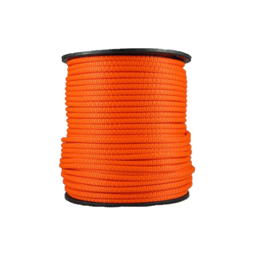 1/4″ Dacron Polyester Rope Neon Orange