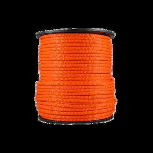 1/4″ Dacron Polyester Rope Neon Orange
