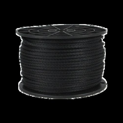 1/8″ Dacron Polyester Rope Black