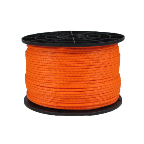 1/8″ Dacron Polyester Rope Neon Orange