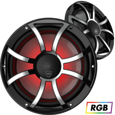 """REVO CX-10 XS-B-SS   Wet Sounds High Output Component Style 10"""" Marine Coaxial Speakers"""