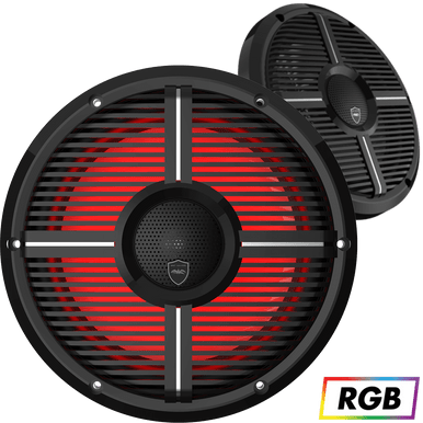 """REVO CX-10 XW-B   Wet Sounds High Output Component Style 10"""" Marine Coaxial Speakers"""