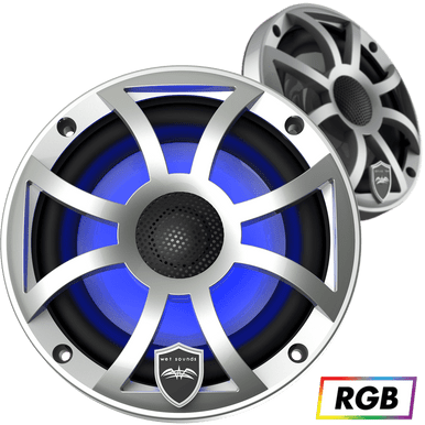 """REVO 6 XS-S   Wet Sounds High Output Component Style 6.5"""" Marine Coaxial Speakers"""