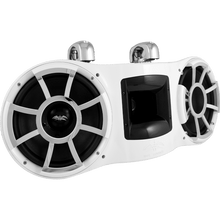"REV 410 W-SC V2 | Wet Sounds Revolution Series Dual 10"" White Tower Speaker With TC3 Swivel Clamps For Tube Diameter 1 7/8"" To 3"""
