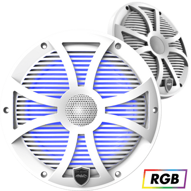 """REVO 8 SW-W   Wet Sounds High Output Component Style 8"""" Marine Coaxial Speakers"""
