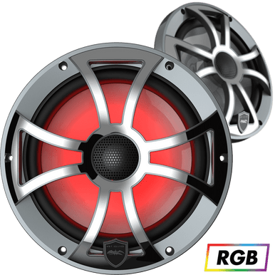 """REVO 8 XS-G-SS   Wet Sounds High Output Component Style 8"""" Marine Coaxial Speakers"""