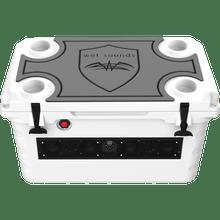 SHIVR 55 GS Top Kit Grey over Black | Gator Step Foam-Traction Kit (Cooler Sold Separately)
