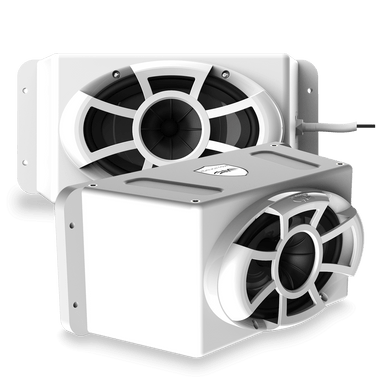 Wet Sounds | Revolution Series 5x7 HLCD With Surface Mountable Roto-Mold Enclosure + Grill - White