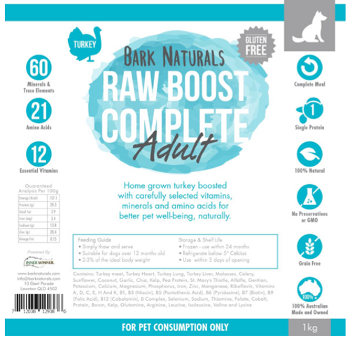 Raw Boost Turkey Adult