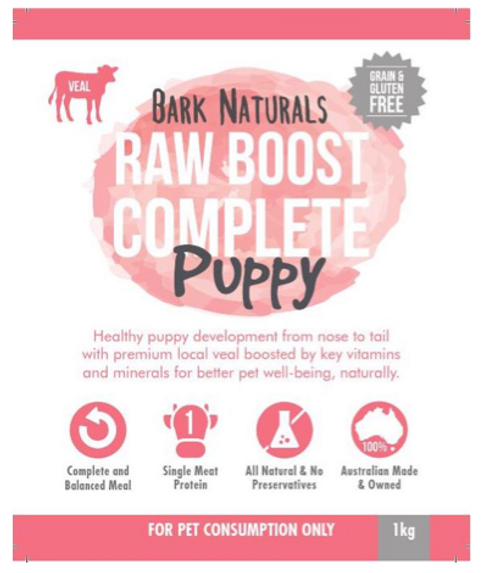 Raw Boost Veal puppy