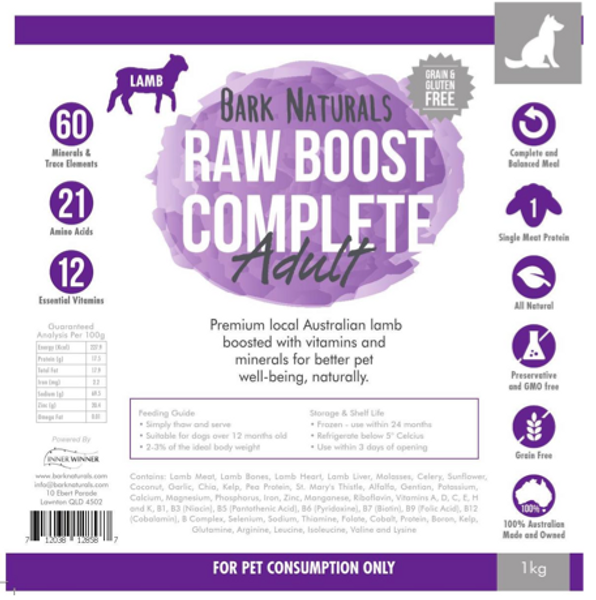 Raw Boost Lamb Adult
