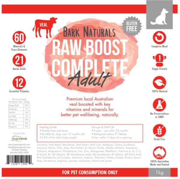 Raw Boost Veal Adult