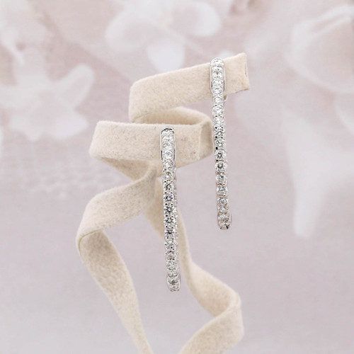Diamond Eternity Hoop Earring