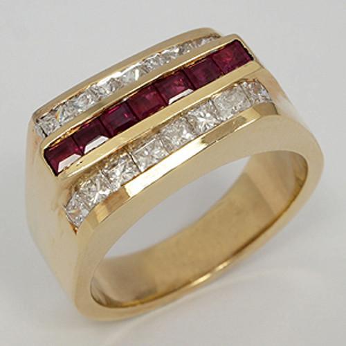 Men's Diamond Wedding Band diawb192