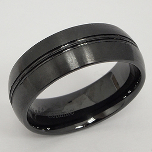 Ceramic Wedding Band cer100