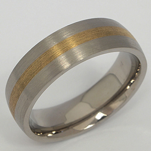 Titanium & Yellow Gold Wedding Band tita140
