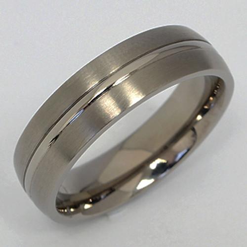 Titanium Wedding Band tita139