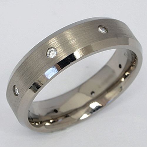 Titanium Diamond Wedding Band tita131