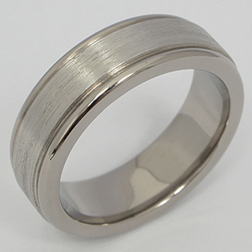 Titanium & Platinum Wedding Band tita126