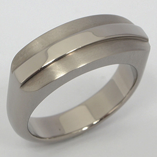Titanium Wedding Band tita125