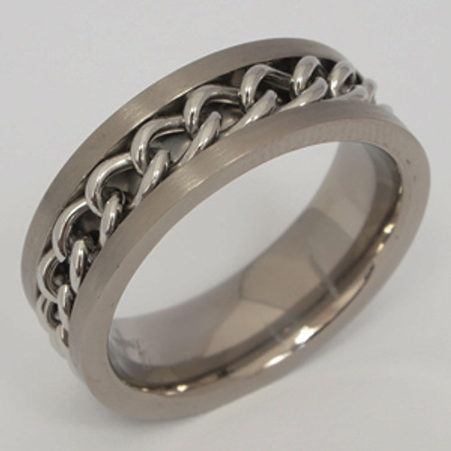 Titanium Wedding Band tita124