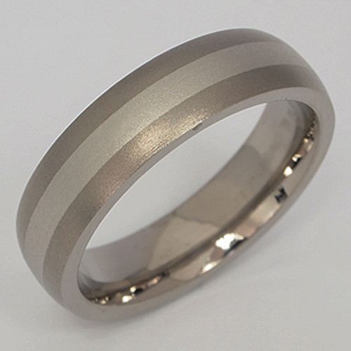 Titanium & Platinum Wedding Band tita123