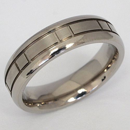 Titanium Wedding Band tita112