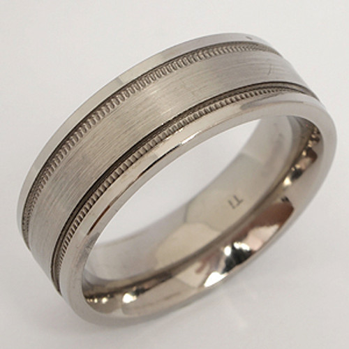 Titanium Wedding Band tita111