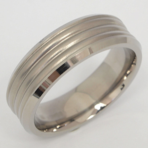 Titanium Wedding Band tita110