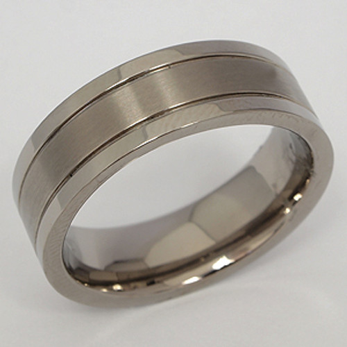 Titanium Wedding Band tita108