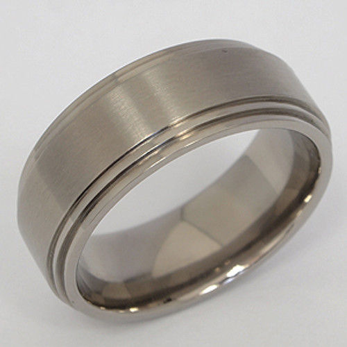 Titanium Wedding Band tita107
