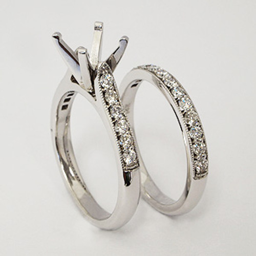 White Gold Wedding Set ws137